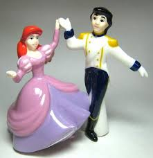 Small Picture Ariel and Prince Eric dancing magnetized salt and pepper shaker
