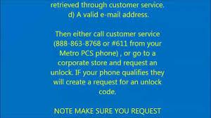 Call Metro Pcs Customer Service Free Factorymobile Cell Phone Sim Unlock For A Metro Pcs Phone Youtube