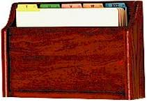 Single Pocket Oak Medical Chart Holders File Racks 866 895