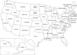 Blank Map Of The United States Us And Capitals X Quiz Naturerenew Info