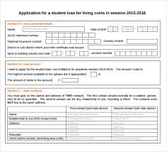 Loan Application Form Sample Students Loan Application Form 7 Download Free Documents