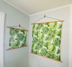 how to add fabric to your wall decor