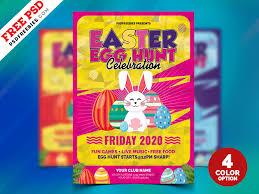 Easter Egg Hunt Flyer Psd Bundle Psdfreebies Com