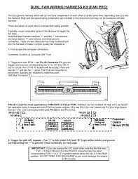 dual fan wiring harness kit (fan pro Gm Ecm Wiring Diagram Schematic TBI Conversion Wiring Diagram