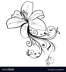 Grunge Elegance Ink Tattoo Sketch Flower