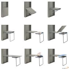 expandable furniture. Innovative Expandable Console Table For Display As Well Eating: Interesting Concept Of Wall Suspended Furniture