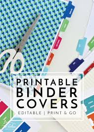 Printable Binder Inserts New To The Organization Toolbox Printable Binder Covers And