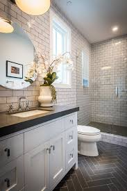 Traditional 34 Bathroom with Flush Undermount Sink Slate counters