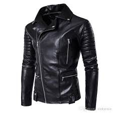 jackets for men new winter cotton padded clothes leisure men s pu jackets leather harley coat