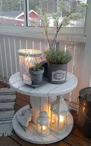 paint an old stool or cable reel 26 tiny furniture ideas for your small balcony patio furniture for small patios