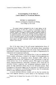 Vocational Careers List Pdf An Investigation Of The Role Of Career Salience In