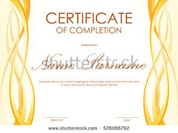 Certificate Template Awards Diploma Background With Wave Download
