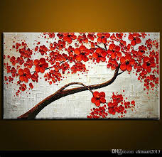 2018 modern abstract canvas art wall decor oil painting on canvas red flowers no frame from chinaart2016 35 18 dhgate com