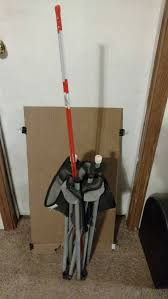 i made it out of a camp chair that had seen better days i designed it to hold a standard cardboard target the uprights are 4 fiberglass driveway markers