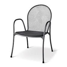 steel mesh patio dining chair