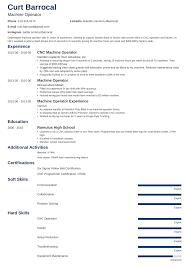 Machine Operator Resume Samples And Writing Guide 20