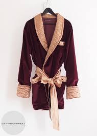 Burgundy Dark Red Velvet & Gold Quilted Silk Smoking Jacket &  Adamdwight.com