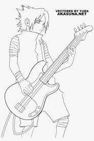 Naruto's story may have been concluded already, but his legacy still goes on. Naruto Coloring Pages Sasuke Sasuke Guitar Transparent Png 1600x2250 Free Download On Nicepng