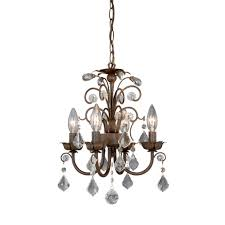 accessories appealing small crystal chandeliers metal and glass material antique bronze finish traditional style 4 lights