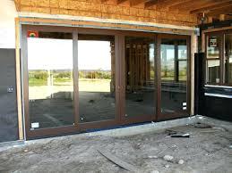 N 4 Panel Patio Doors Sliding Door Cost Interior Interesting  Glass