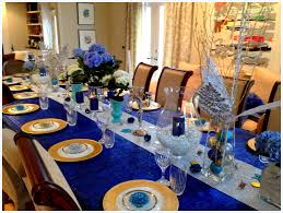 Blue And Gold Table Setting Blue And Gold Decoration Ideas Skarinacom