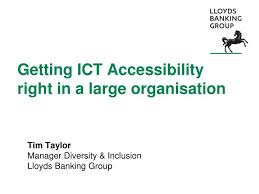 Lloyds Banking Group Organisational Structure Chart Ppt Getting Ict Accessibility Right In A Large