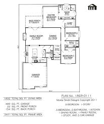 Square Kitchen Floor Plans 1 Story 3 Bedroom 2 Bathroom 1 Kitchen 1 Dining Room 1 Family