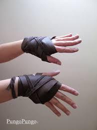 fingerless leather gloves or wraps daenerys by pungopungo on