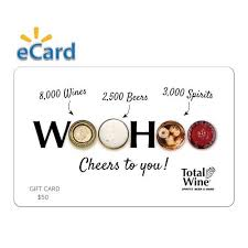 Total Wine $50 Gift Card (Email Delivery) - Walmart.com - Walmart ...