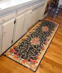 Kitchen Mats For Hardwood Floors Elegant Long Floral Mat In The Kitchen With Hardwood Floors