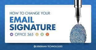 Email Signature How To Change Your Email Signature In Office 365