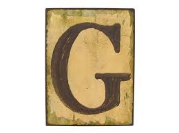 vintage distressed metal sign letter g wall decor outdoor nautical beach sign what 039