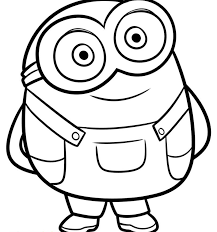 Minion Coloring Pages Cute Bob And Bearnions Page Worksheets Awful