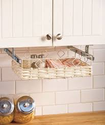 Under Cabinet Storage Baskets... I like the idea.. Don't like the ...