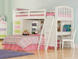 bunk bed for girls with desk