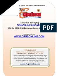 Soal cat cpns 2015 dan kunci jawaban gratis doc. 1 1 Seri Panduan Sukses Bentuk Soal Cpns