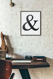ampersand wall art vintage ampersand printable wall art decor black and white printable minimalist printable office