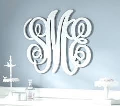 wood monogram wall decor wood monogram wall decor personalized pertaining to attractive residence wooden initials wall decor ideas