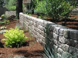 Small Picture Retaining Wall Roman Stack Stone Mutual Materials Landscape