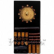 buy abstract wooden designer wall clock online in india  panchatatva