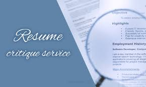 Professional Resume Critique What You Can Really Get From A Resume Critique Service