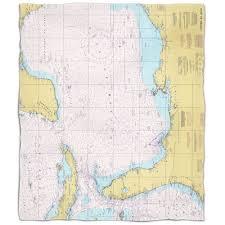 Gulf Coast Nautical Charts Island Girl Gulf Of Mexico Nautical Chart Fleece Throw Blanket