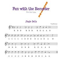 Jingle Bells Recorder Notes Recorder Music Drum Music