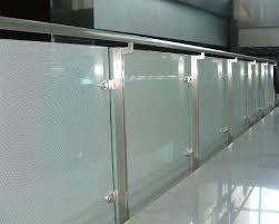 china silkscreen toughened glass panel railings laminated ce standard supplier