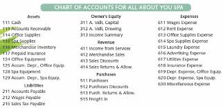 Income Summary Chart Of Accounts Ms Valli Of All About You Spa Has Decided To Expand Bartleby