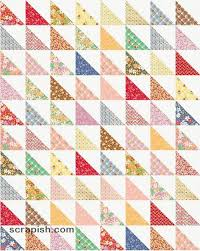 Half Square Triangle Cutting Chart Easy Half Square Triangle Quilt Pattern Tutorial