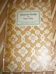 Oskar Wilde Lehren Und Sprüche Insel Bücherei Nr 53