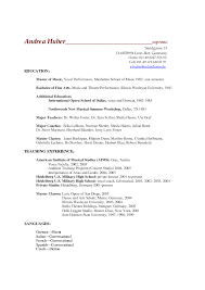 Fancy Music School Resume Format Picture Collection - Example Resume ...