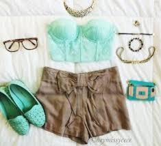 blouse clothes shoes mint slippers mint green shoes High waisted shorts brown  brown shorts hipster rayban
