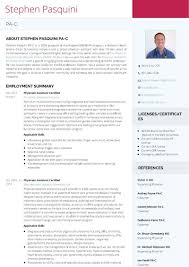 Physician Assistant Resume Templates Use VisualCV to Create a Stunning Physician Assistant Resume The 39